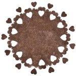 Pack de 5 CENTRES de table PERFORÉS, Chocolat (avec confettis)