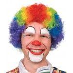 Perruque clown, frisée multicolore