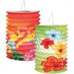 Set de 2 LAMPIONS Hawaï Hibiscus