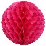 Boule papier festonnée à suspendre - Fuchsia