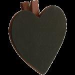 Lot de 6 Ardoises forme COEUR pince, couleur chocolat
