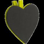 Lot de 6 Ardoises forme COEUR pince, couleur vert anis