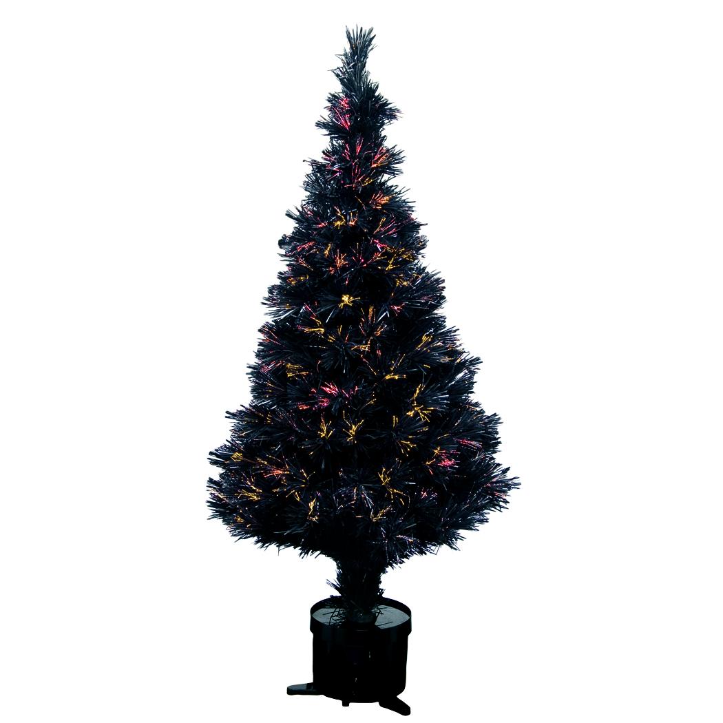 dige n17h051 sapin artificiel noir 150cm fibre optique multifonction ebay. Black Bedroom Furniture Sets. Home Design Ideas